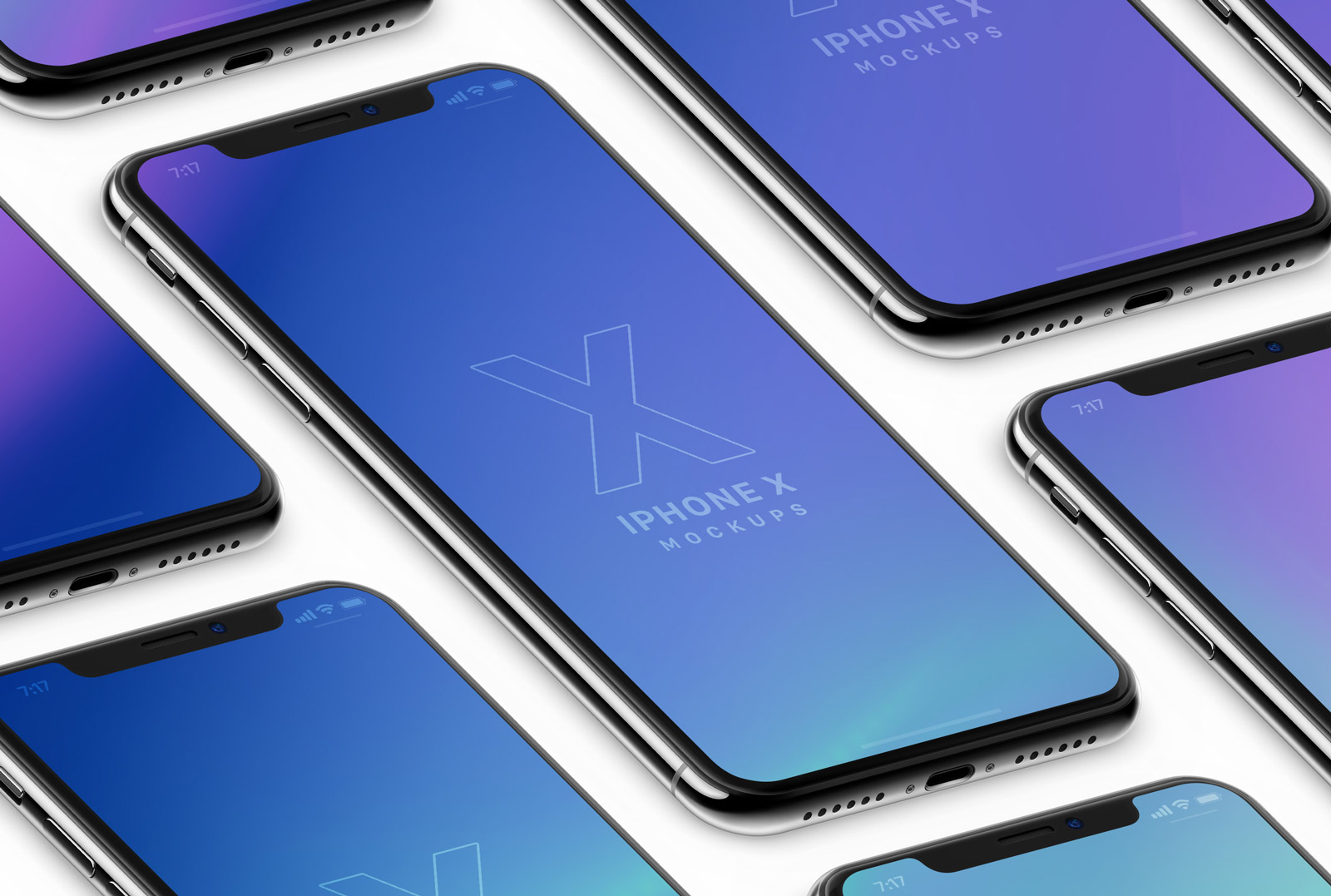 Free-Isometric-Clay-&-Realistic-iPhone-X-PSD-Mockups-3