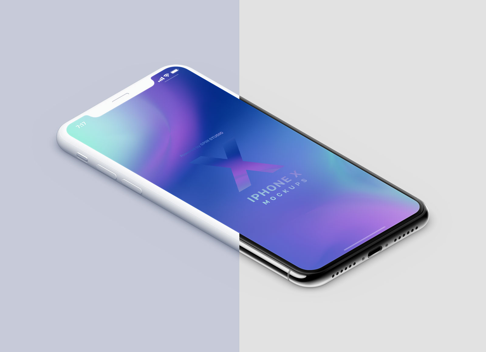 Free-Isometric-Clay-&-Realistic-iPhone-X-PSD-Mockups-6