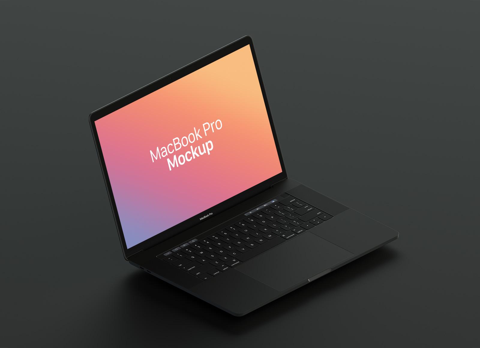Free-Matt-Black-MacBook-Pro-Mockup-PSD