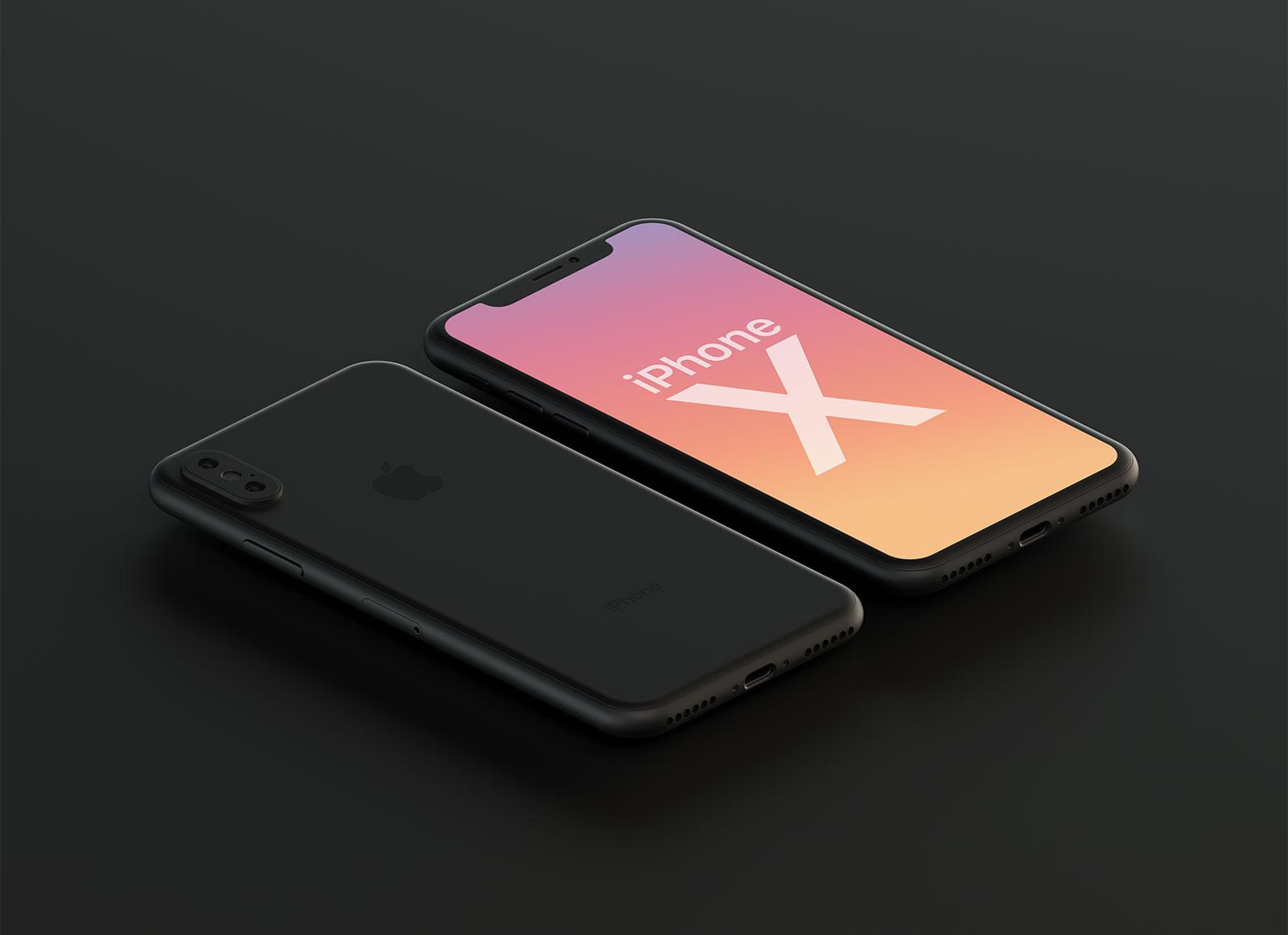 Free-Matt-Finish-Apple-iPhone-X-Mockup-PSD