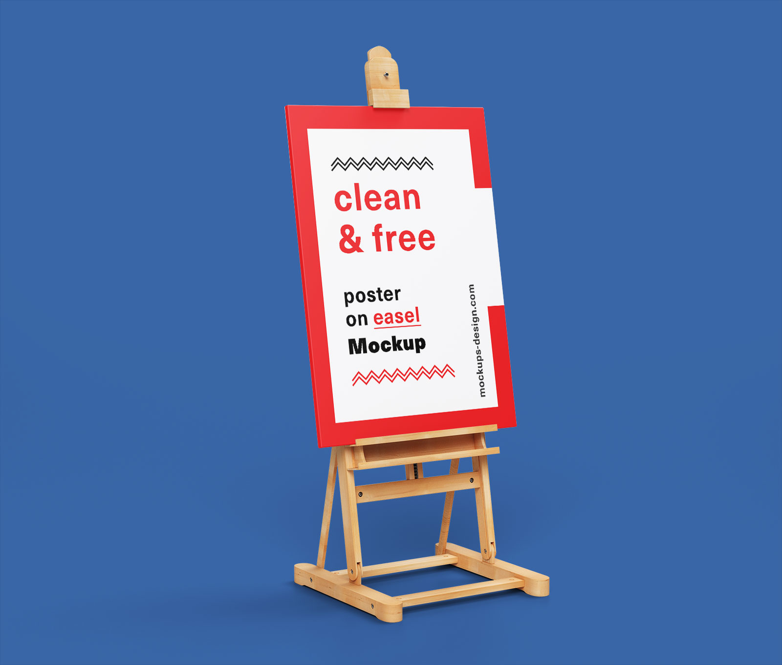 Free Paint Canvas Poster on Easel Stand Mockup PSD (1)