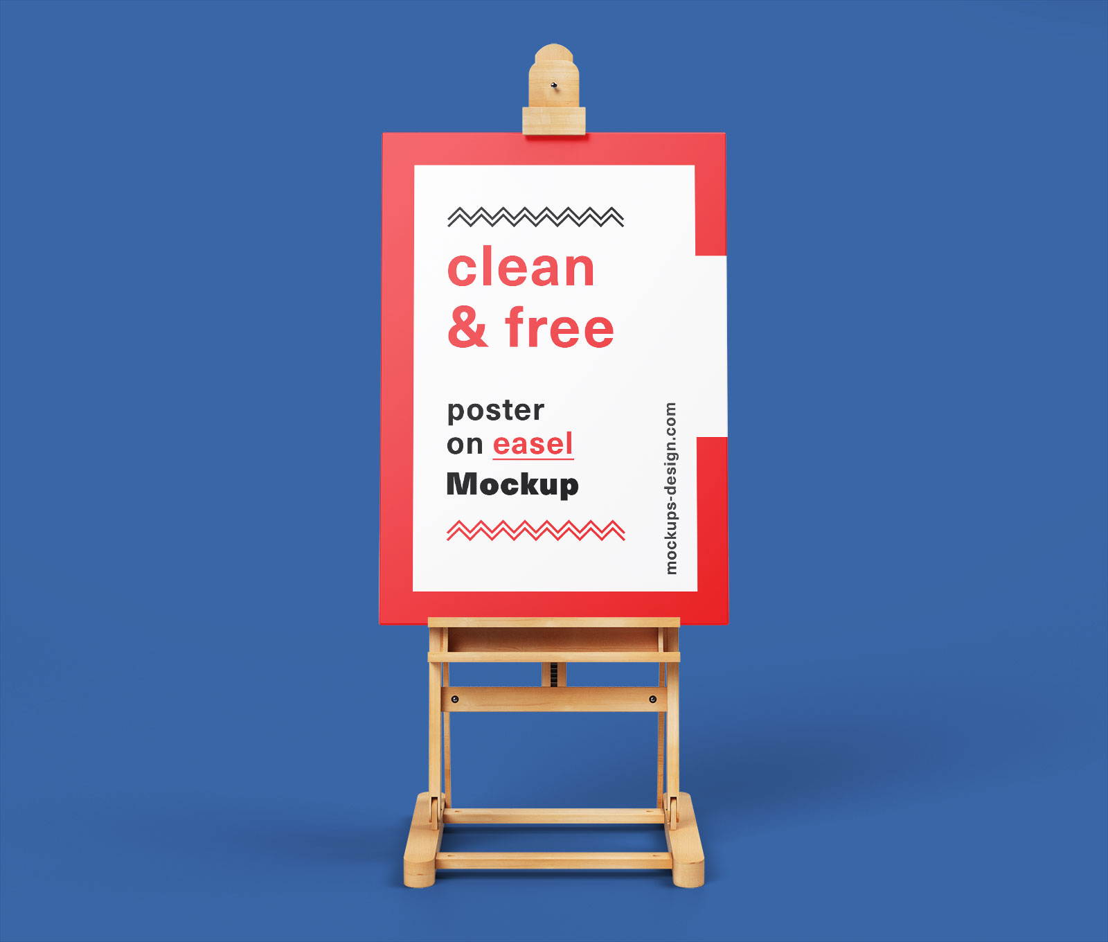 Free Paint Canvas Poster on Easel Stand Mockup PSD (2)