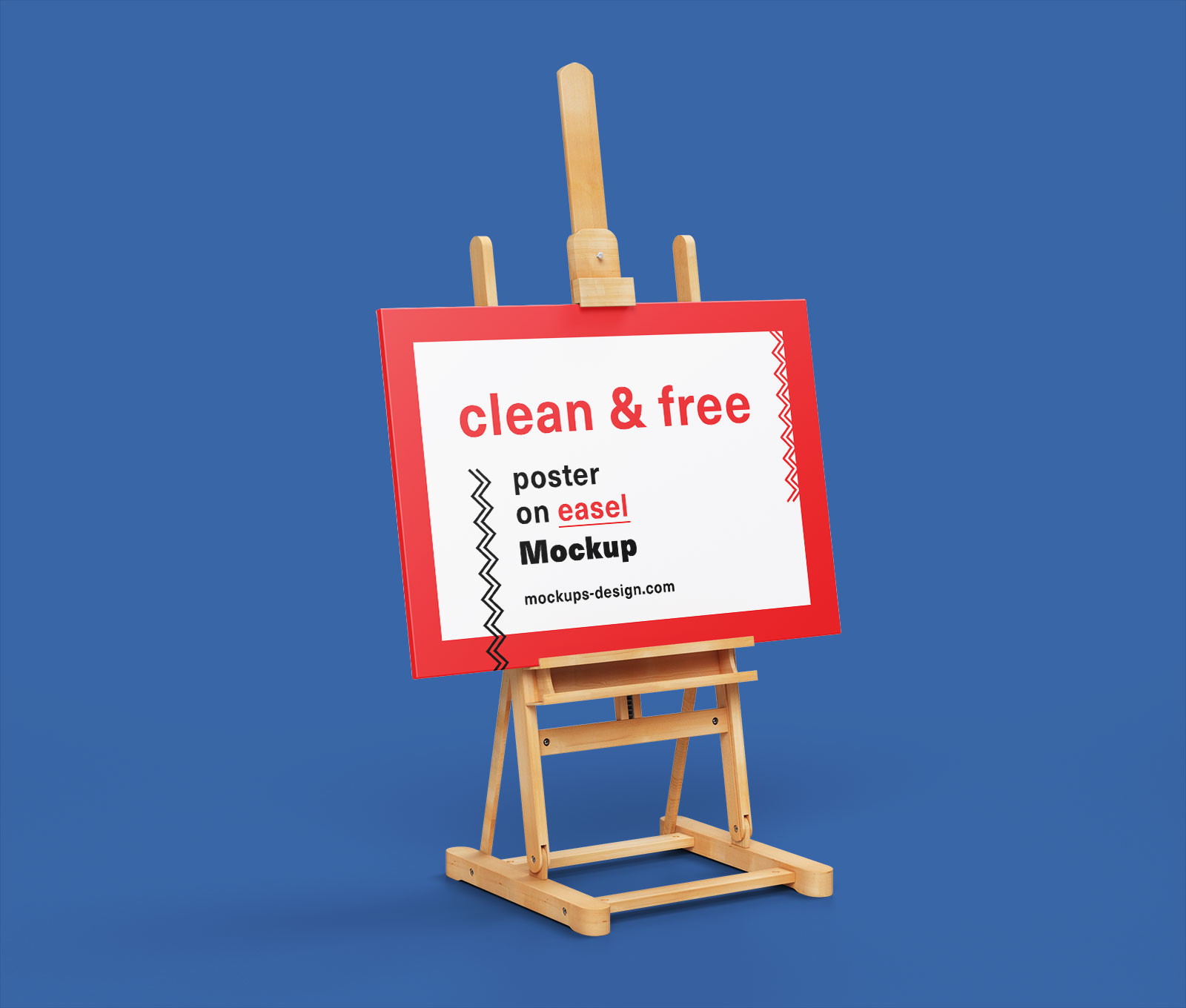 Free Paint Canvas Poster on Easel Stand Mockup PSD (3)
