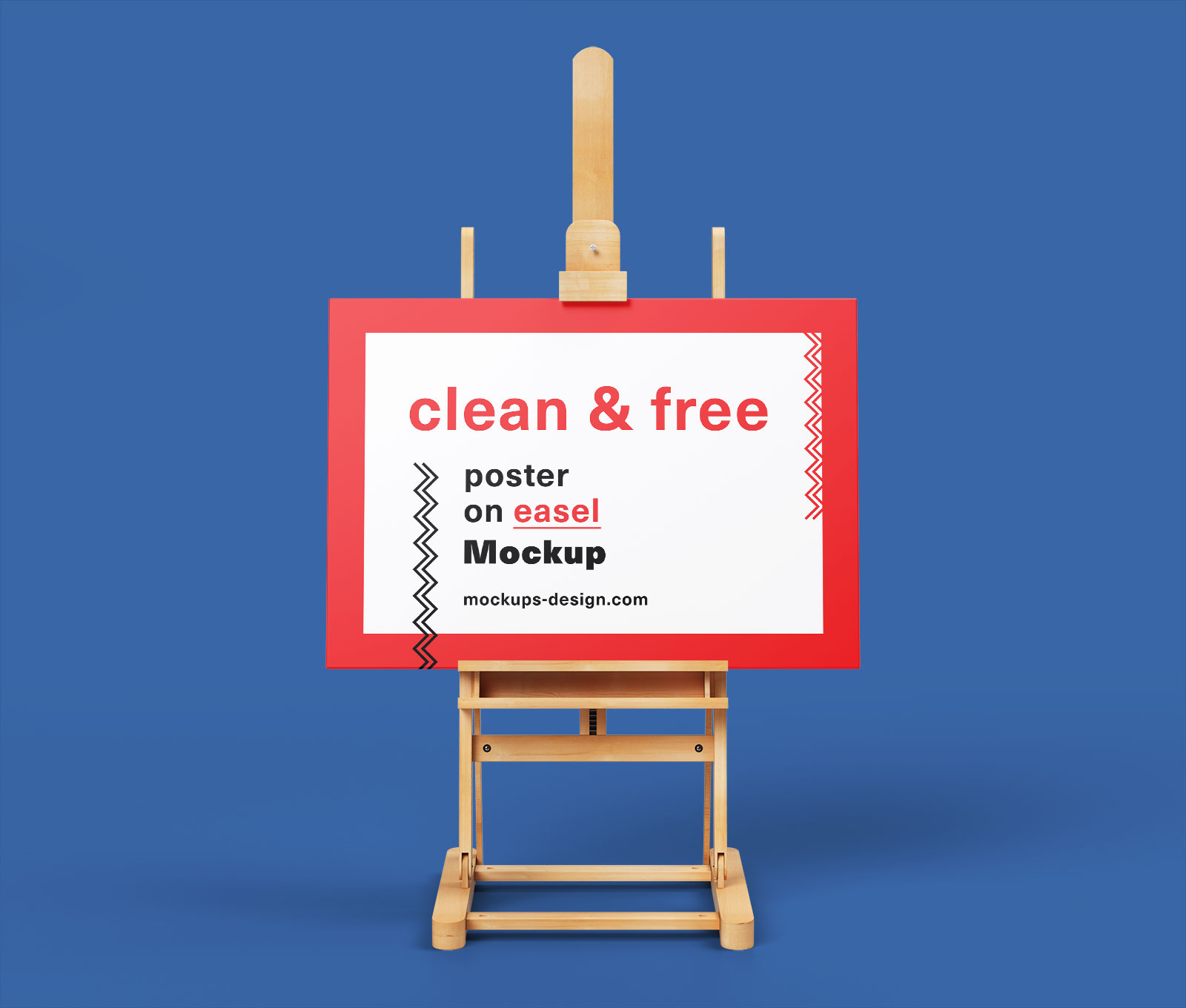 Free Paint Canvas Poster on Easel Stand Mockup PSD (4)