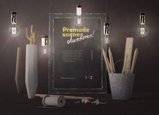 Free-Vintage-Premium-Poster-Mockup-Scene