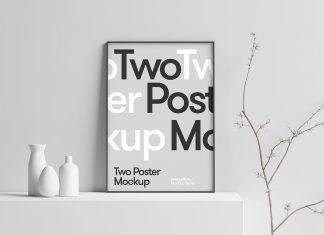 Free-3D-Scene-Photo-Poster-Frame-Mockup-PSD