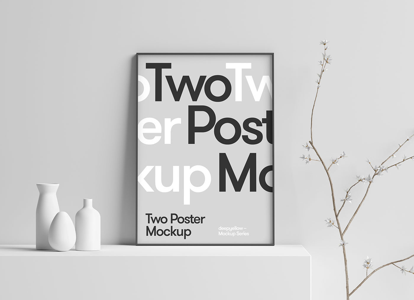 Free 3D Scene Photo / Poster Frame Mockup PSD - Good Mockups