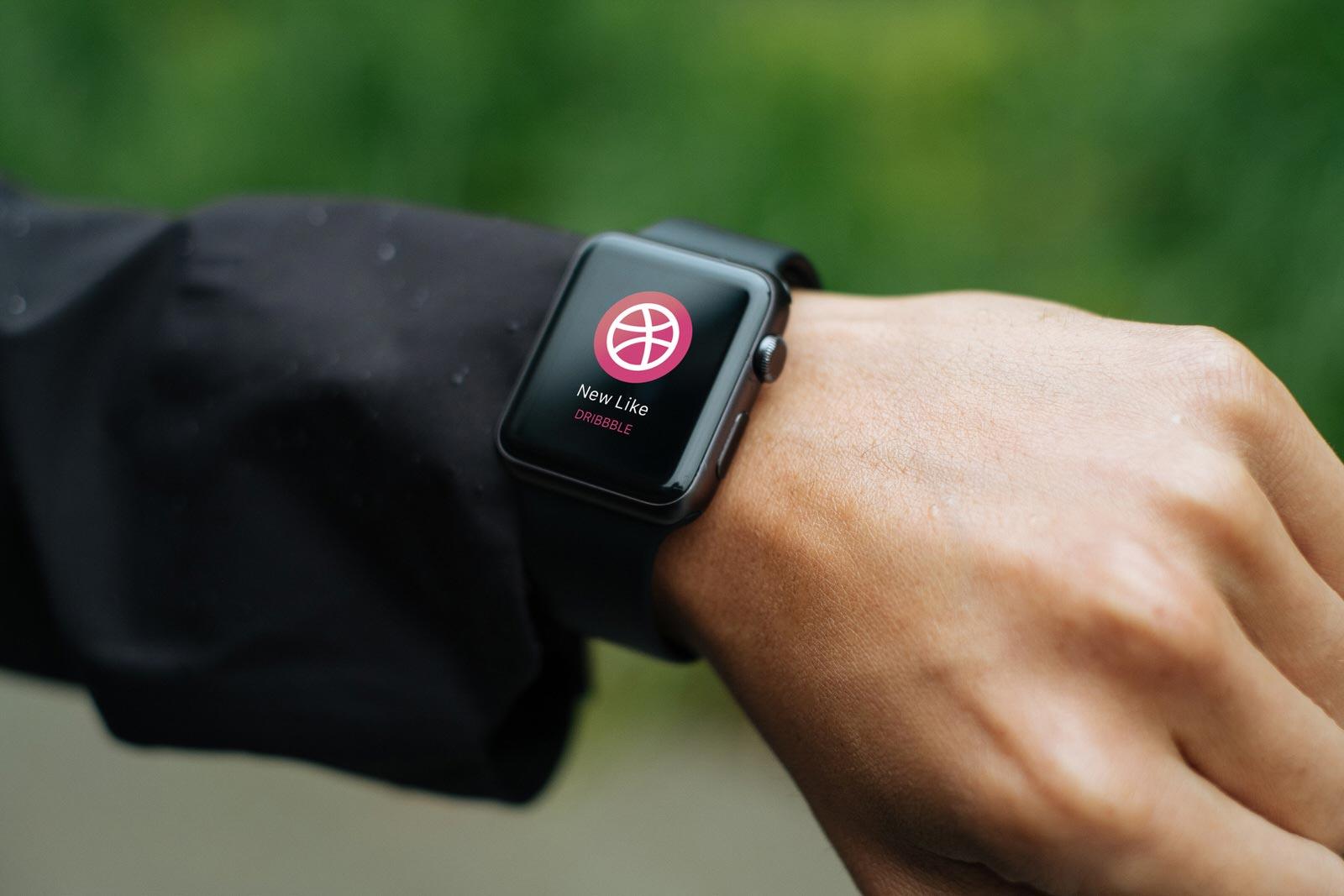 Free Apple Watch Photo Mockup PSD (2)