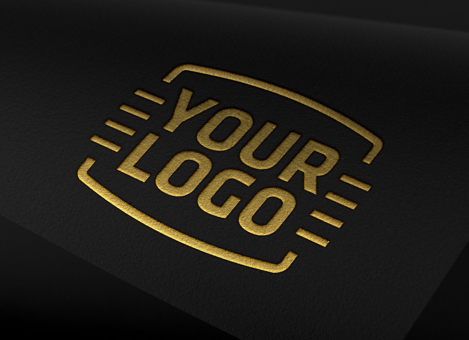 free copper  silver  u0026 gold foil logo mockup psd