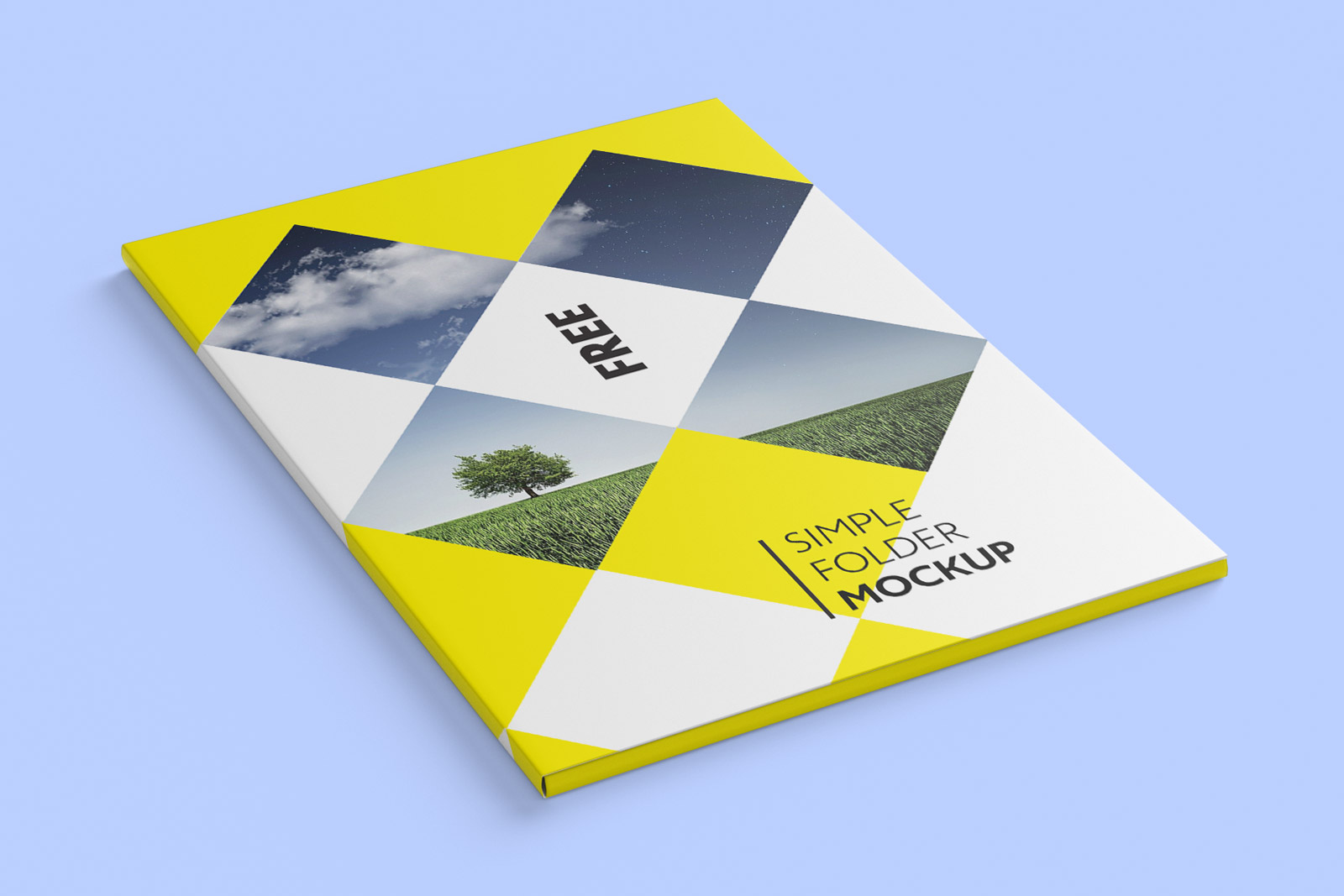 Free Corporate Folder Mockup PSD Presentations