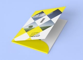 Free Corporate Folder Mockup PSD Presentations