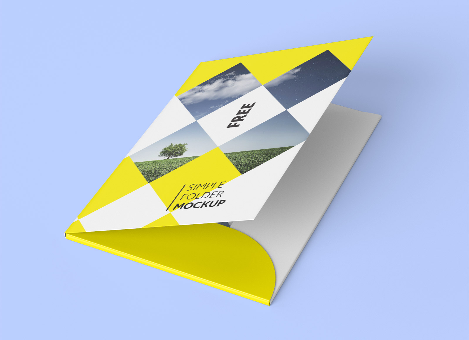 free corporate folder mockup psd set