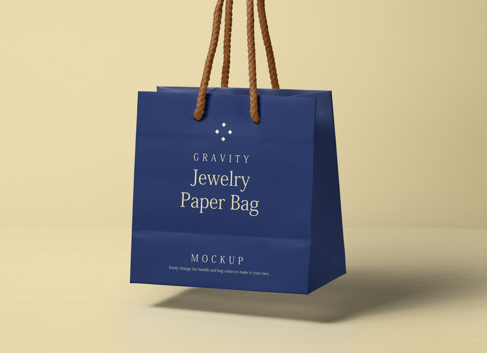 Free Gravity Paper Ping Bag Packaging Mockup Psd