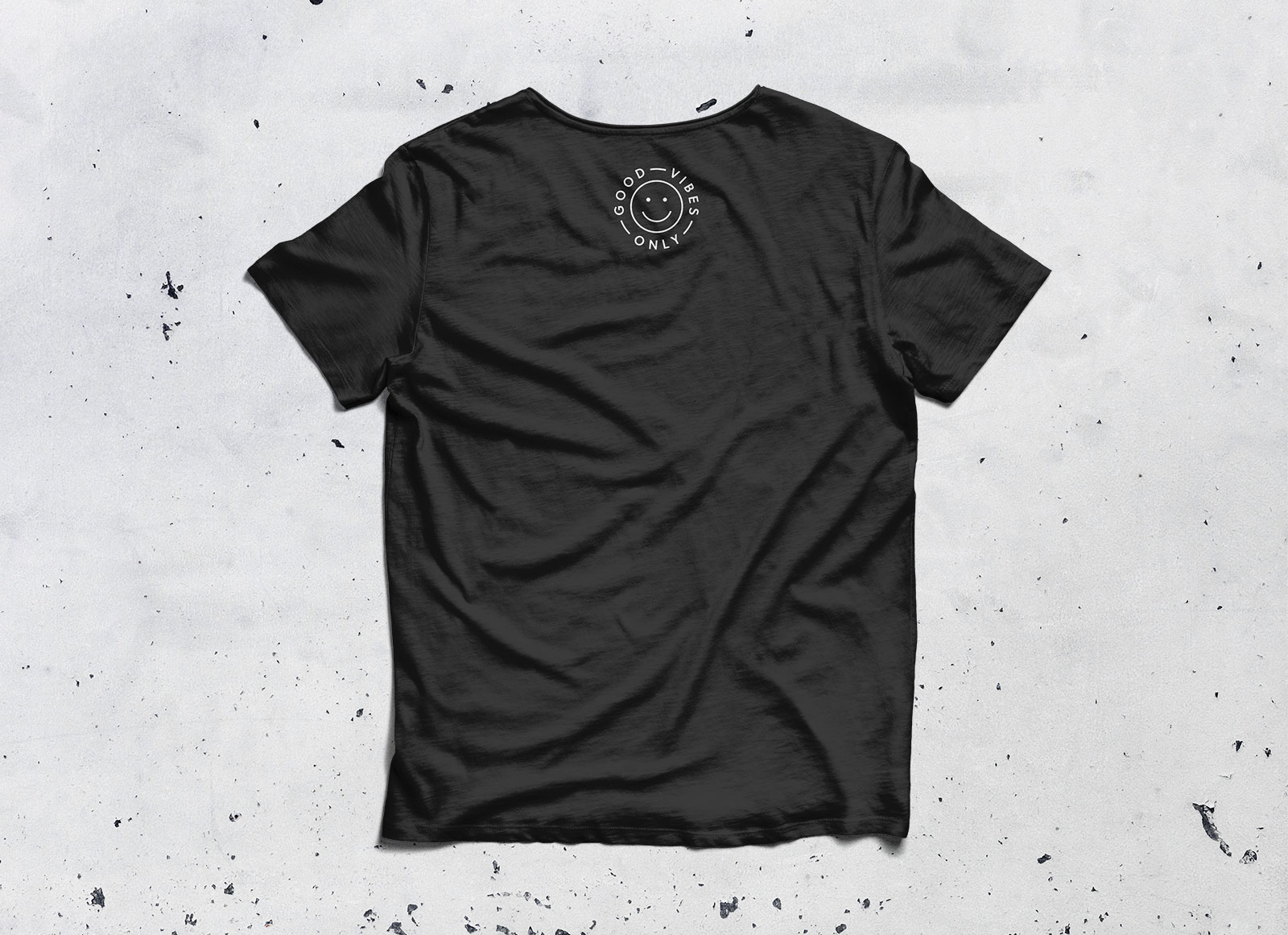Free-Half-Sleeves-Round-Neck-Black-T-shirt-Mockup-PSD