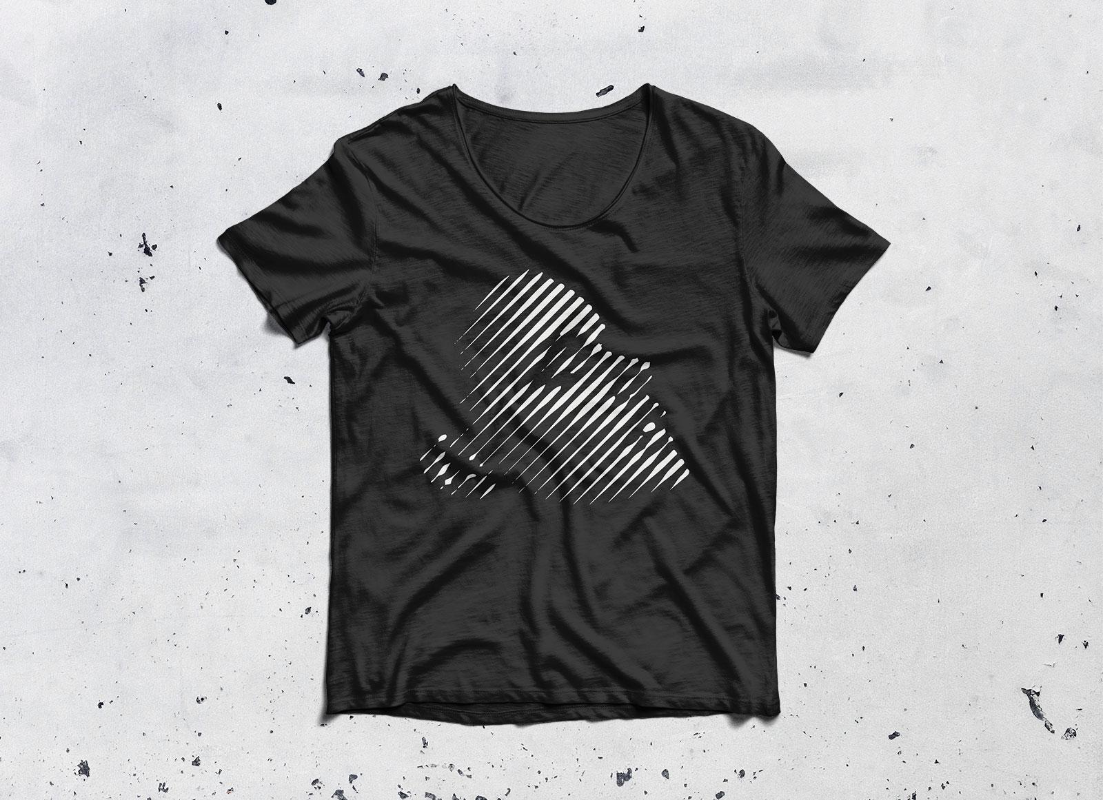 black t shirt round neck