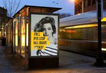 Free-Outdoor-Advertising-Bus-Stop-Billboard-Mockup-PSD-File-2