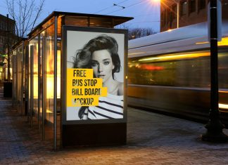 Free-Outdoor-Advertising-Bus-Stop-Billboard-Mockup-PSD-File-2