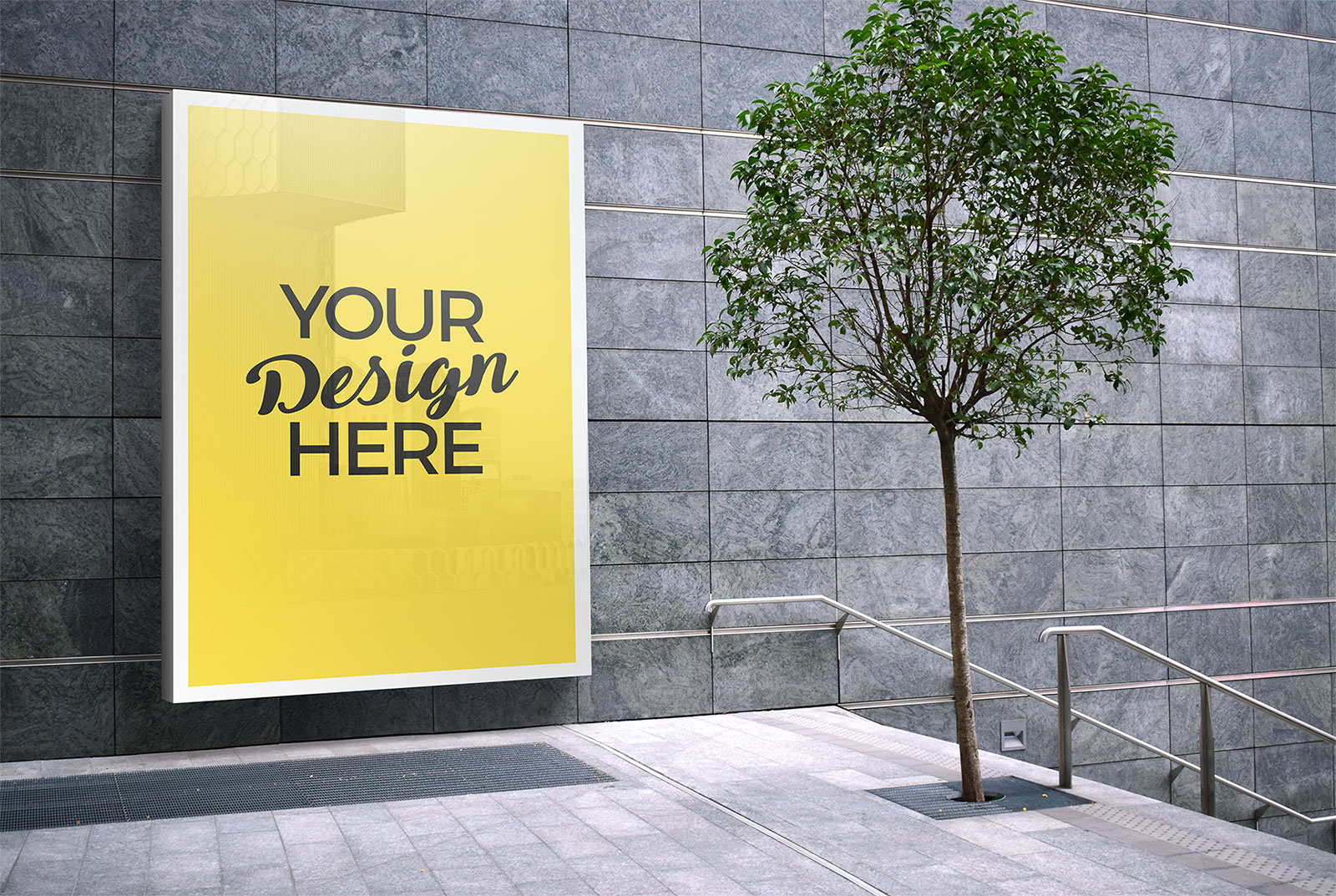 Free-Outdoor-Advertising-Wall-Mounted-Billboard-Mockup-PSD-File