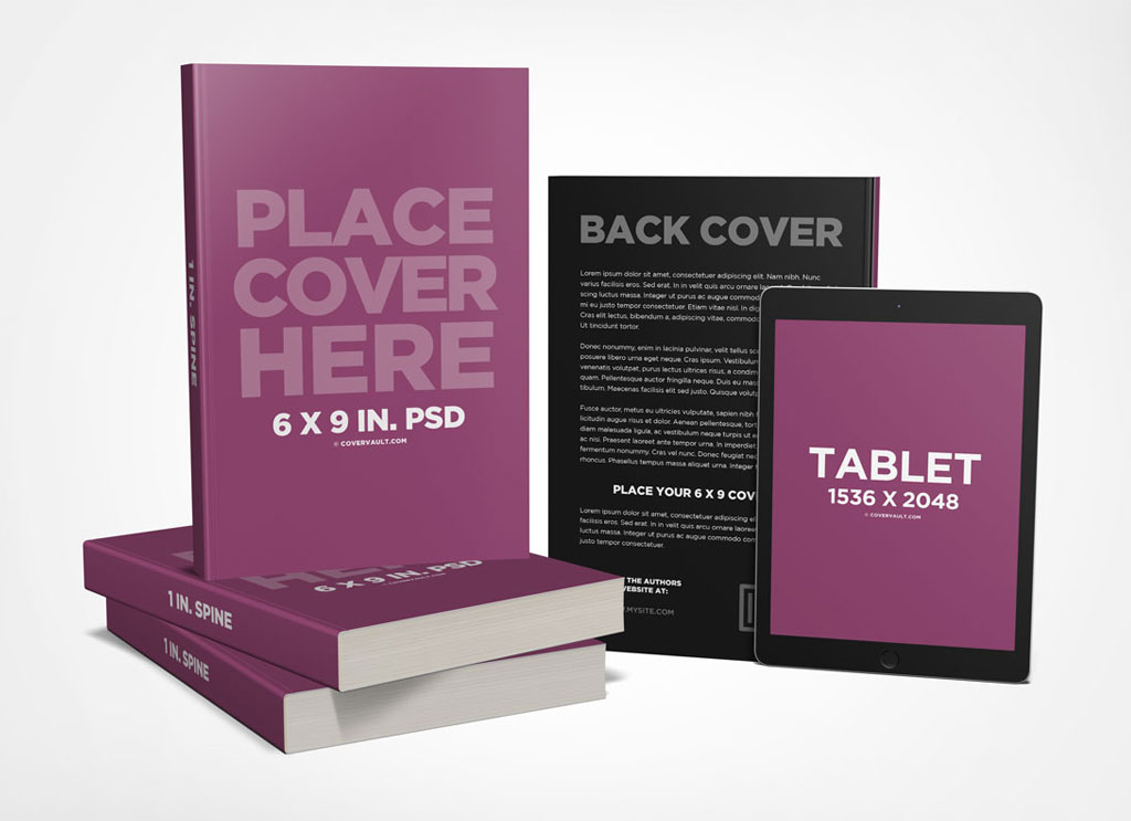 Free-Paperback-Book-with-Tablet-Mockup-PSD