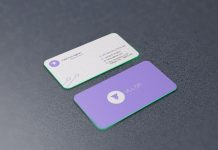 Free-Rounded-Corners-Front-&-Back-Business-Card-Mockup-PSD-File