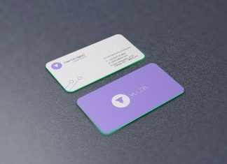 Business card mockup archives good mockups free rounded corners front back business card mockup psd reheart Image collections