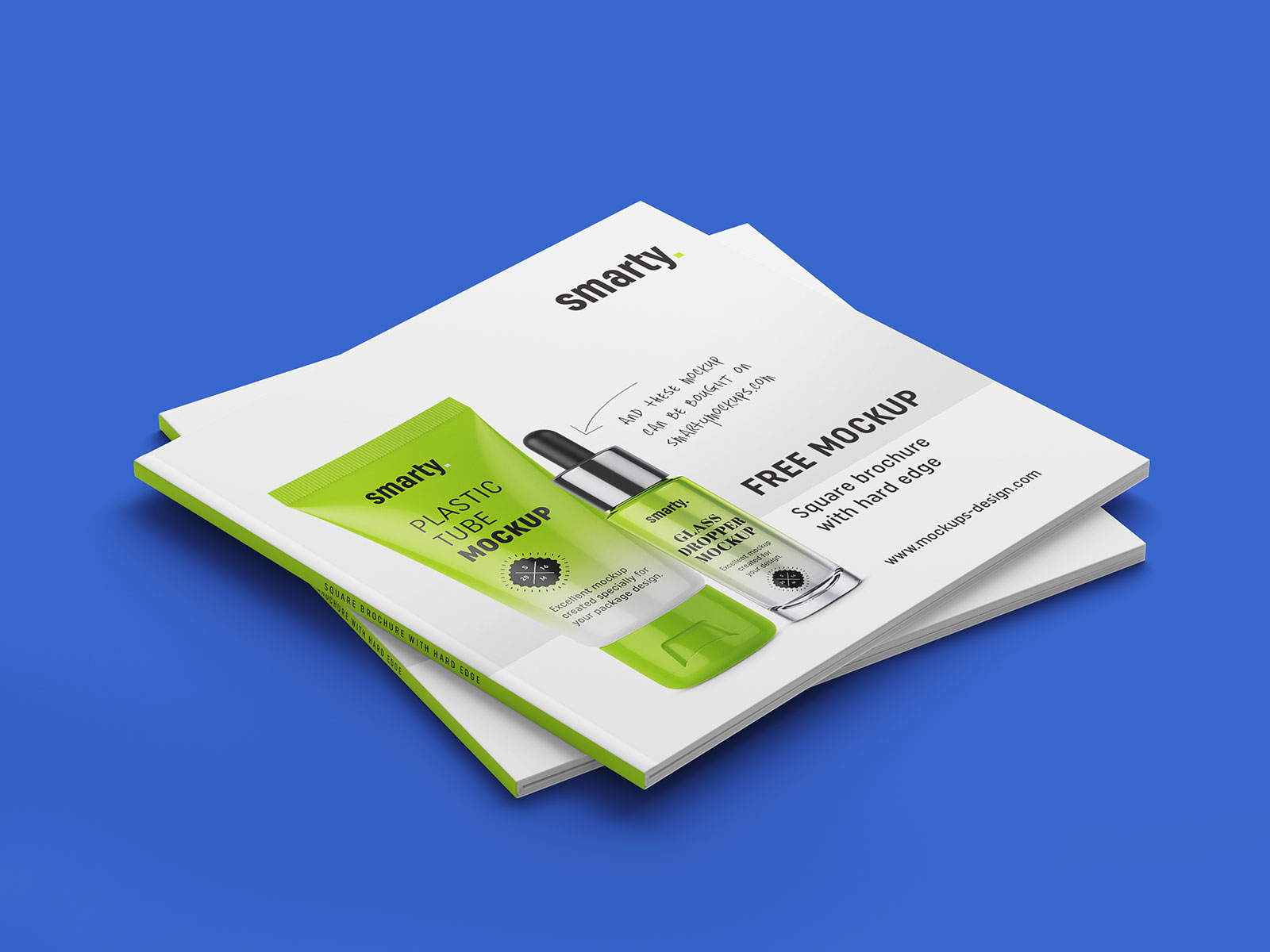 Free Square brochure Mockup PSD Set