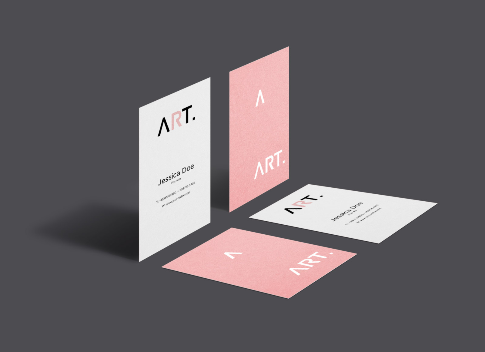 Free Vertical Perspective Business Card Mockup PSD - Good Mockups