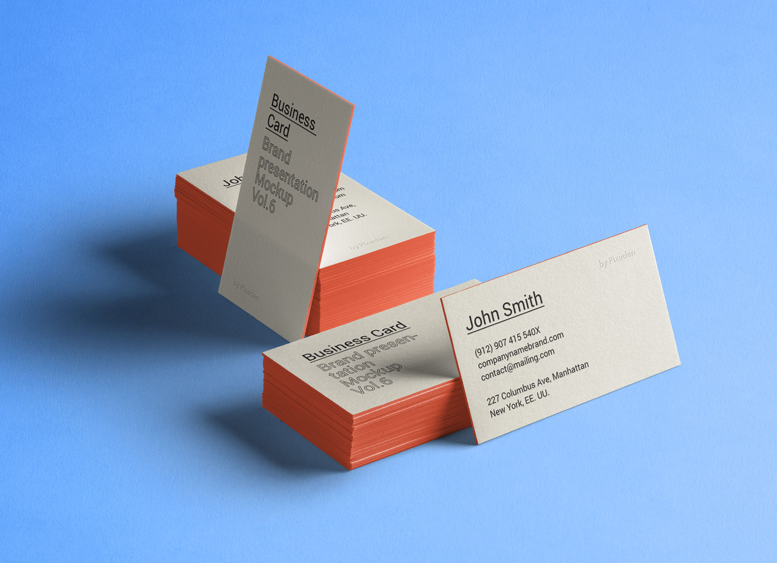 Free thick business card mockup psd good mockups for Business card presentation template psd