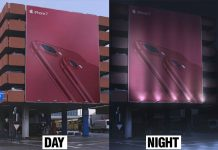 Free Day & Night Outdoor Building Billboard Mockup PSD