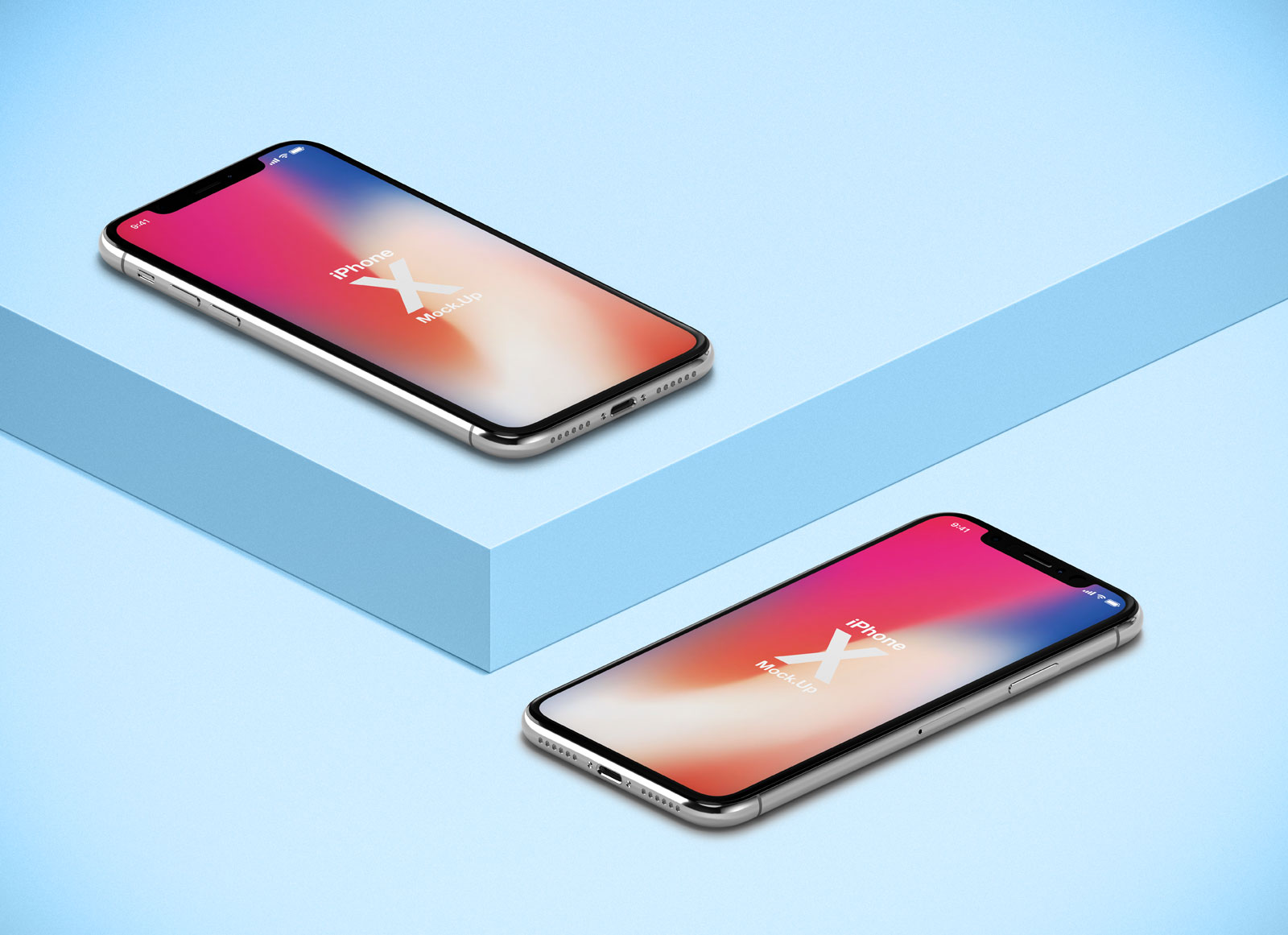 Free-Isometric-iPhone-X-Mockup-PSD-Presentation