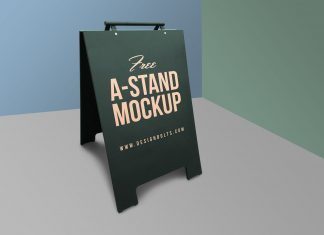 Free-Outdoor-Advertising-A-Stand-Mockup-PSD
