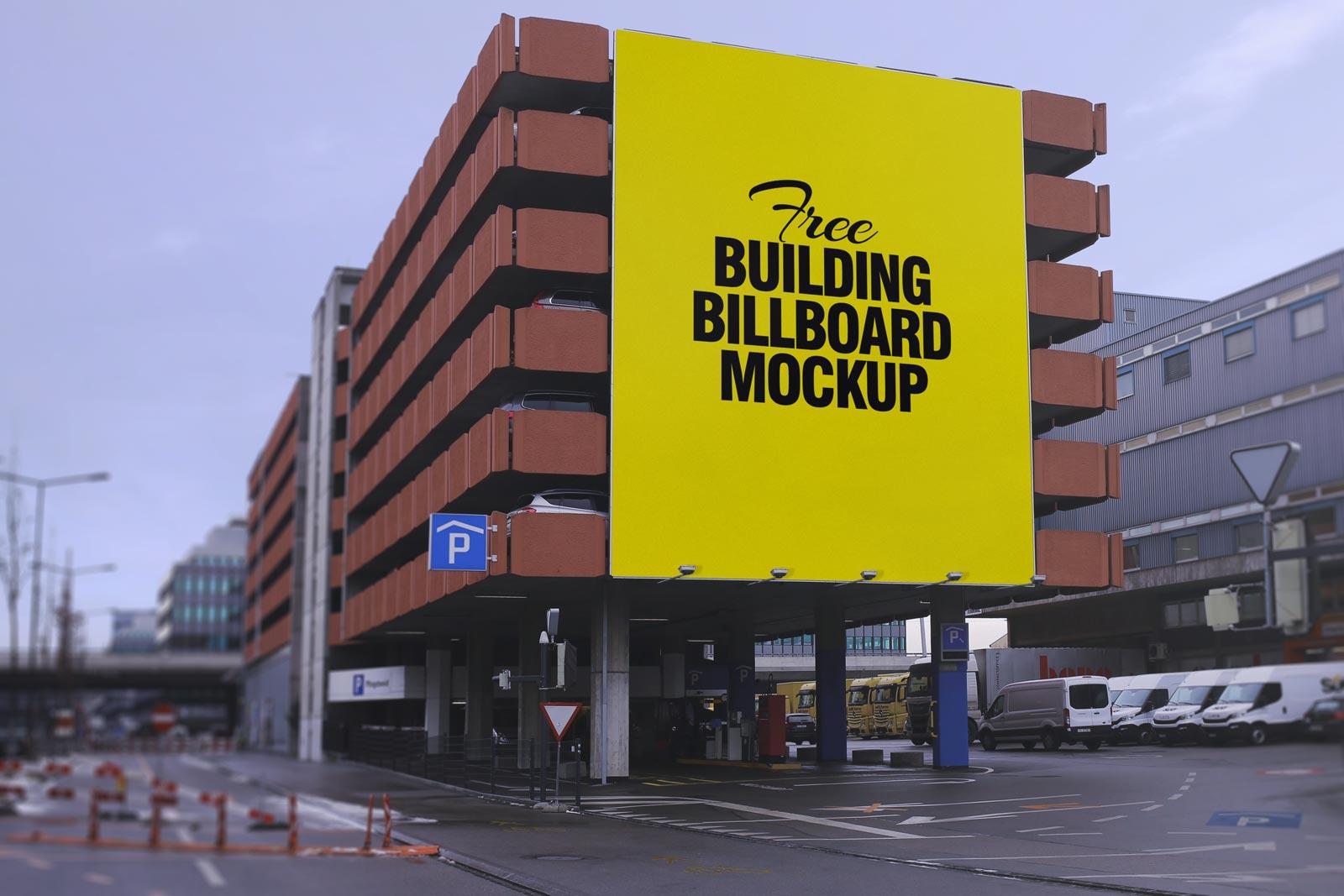 Free Outdoor Building Billboard Mockup PSD (1)