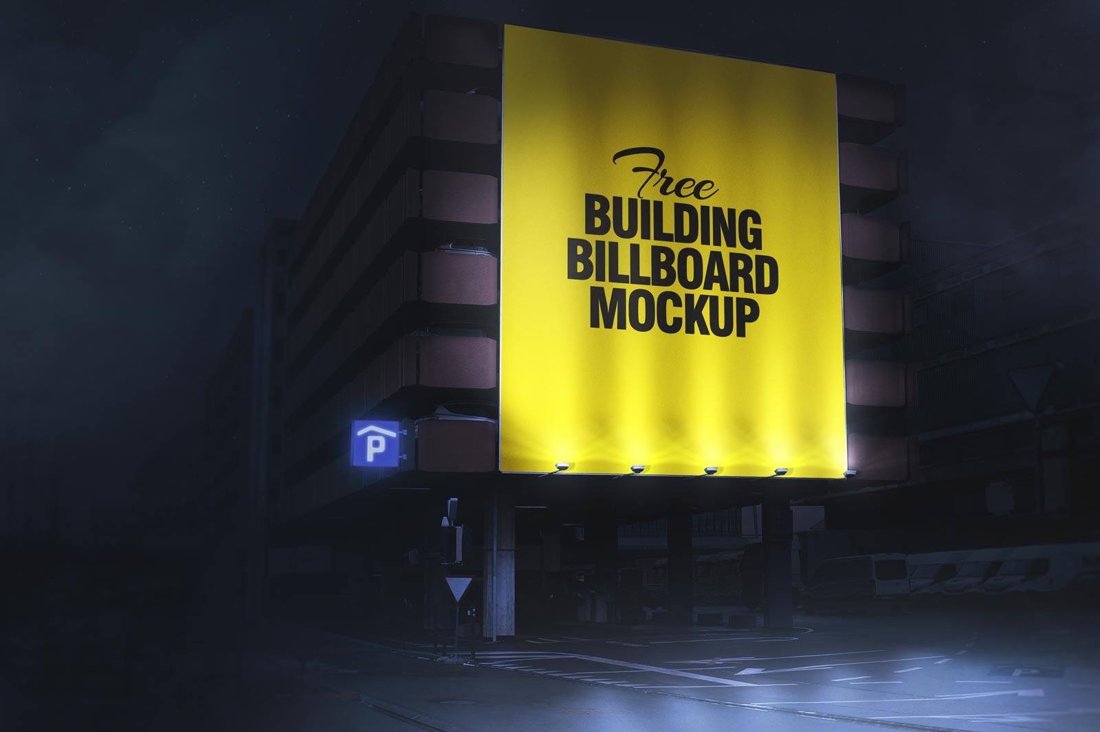 free day  u0026 night outdoor building billboard mockup psd