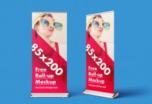 Free Roll-up Banner Stand Mock-up PSD (4)