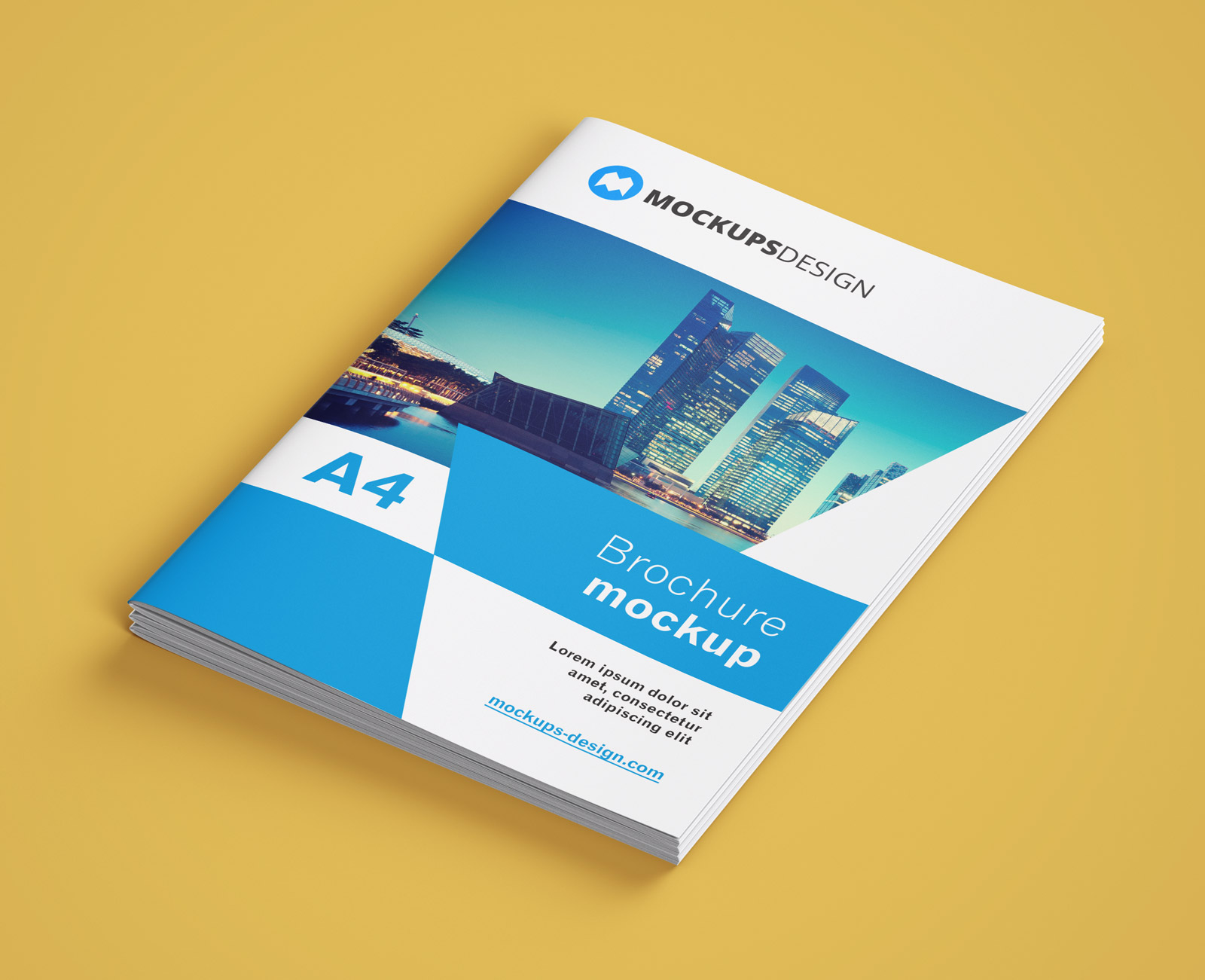 free a4 multi page brochure company profile mockup psd set good