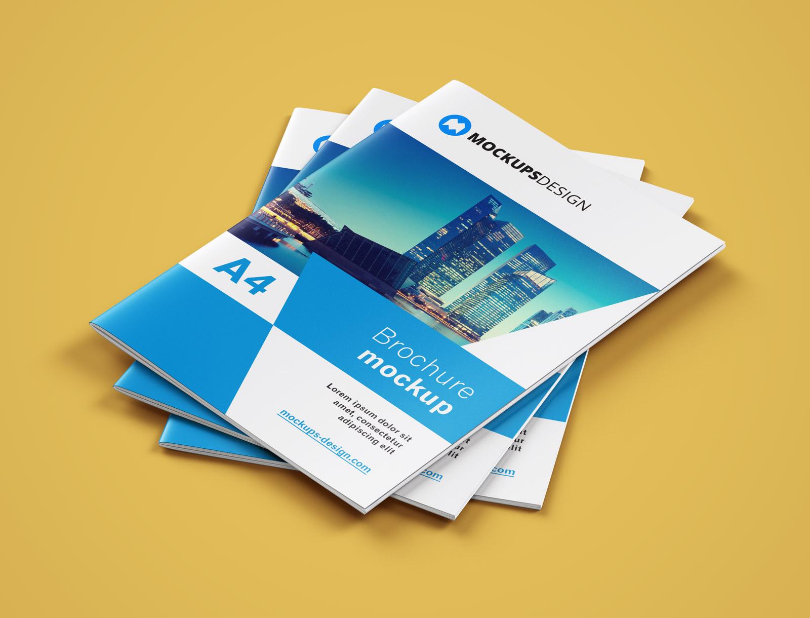 Free A4 Brochure Company Profile Mockup PSD (2)