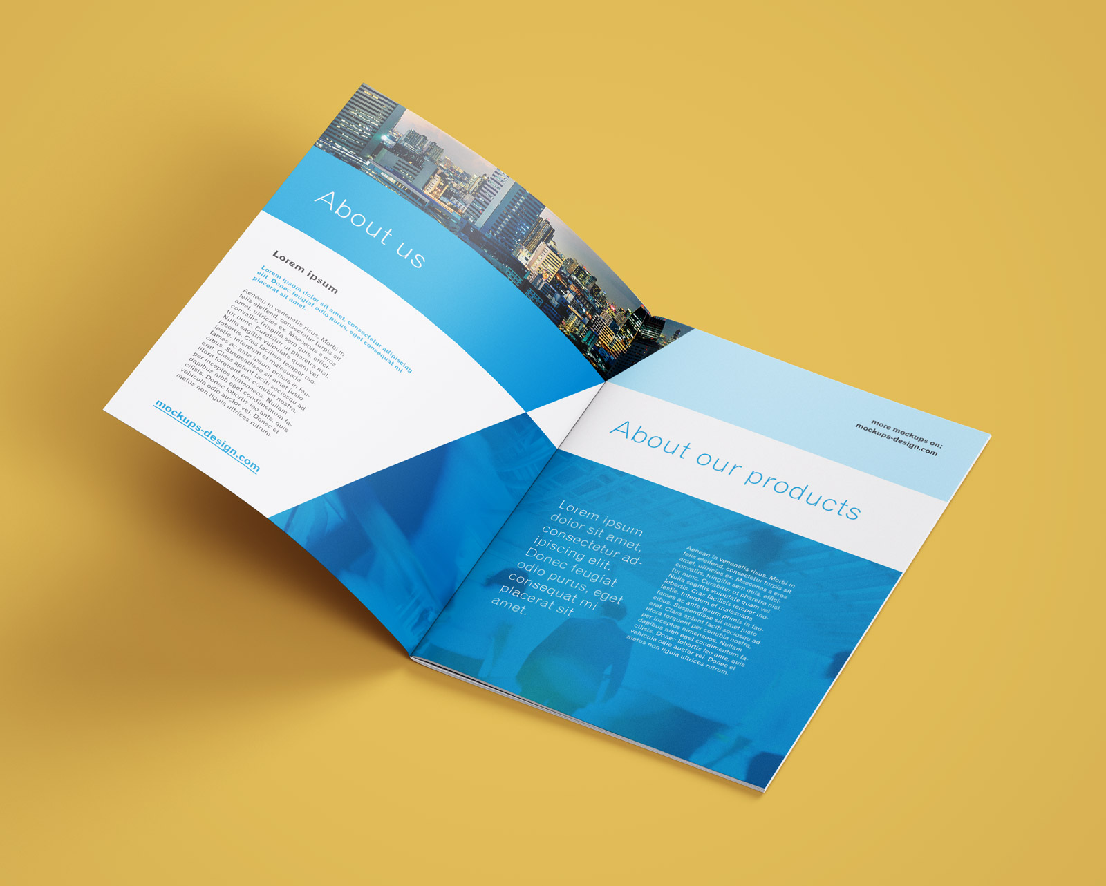 Free A4 Brochure Company Profile Mockup PSD (3)