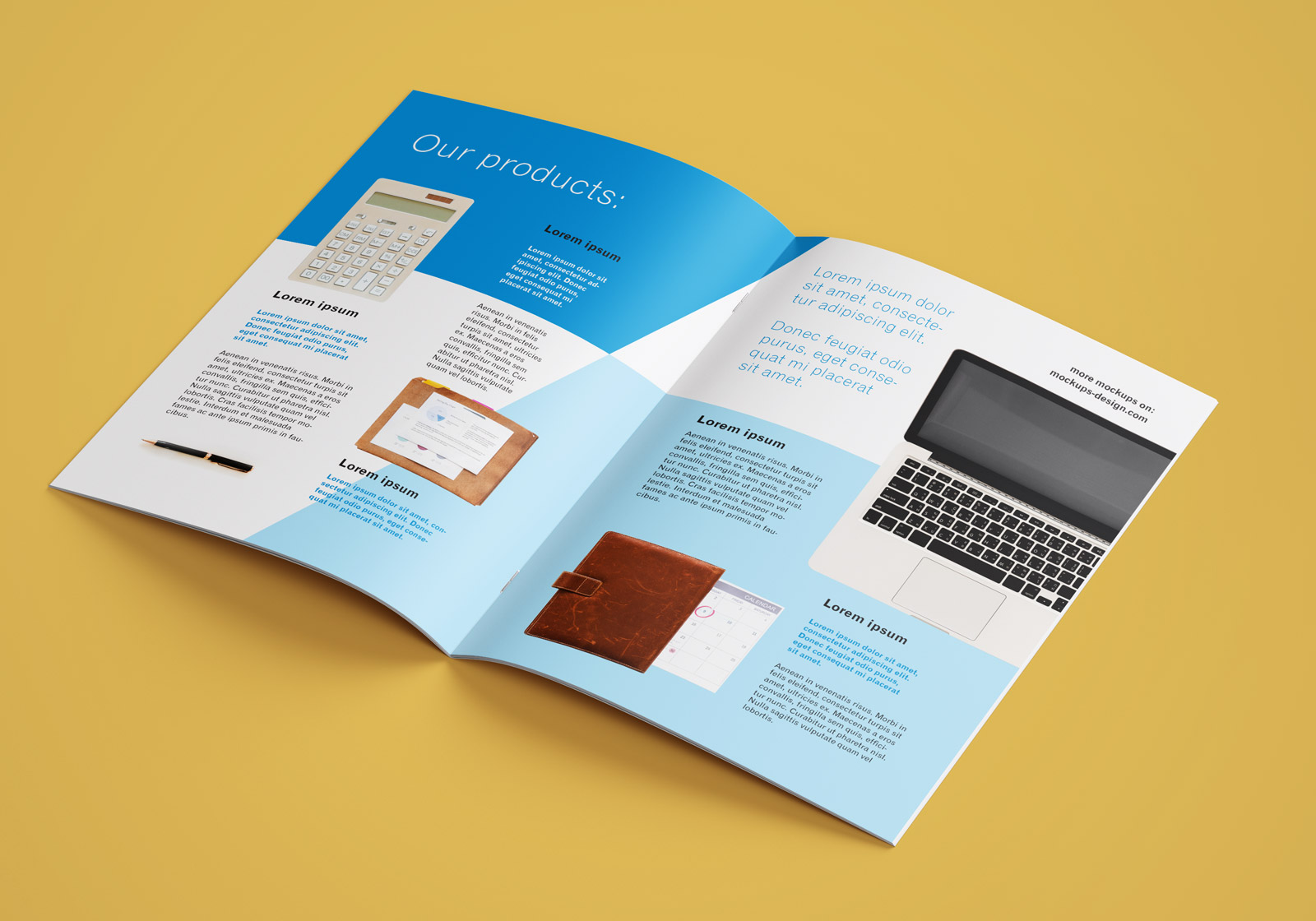 Free A4 Brochure Company Profile Mockup PSD (5)