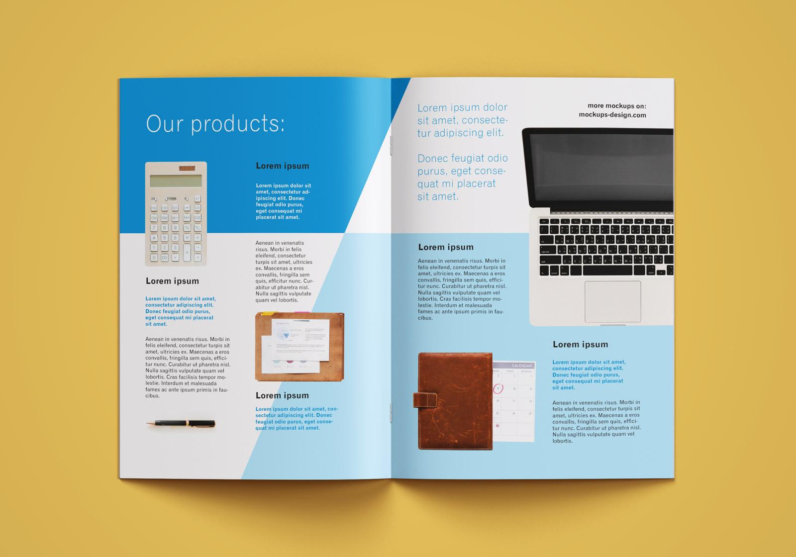 Free A4 Brochure Company Profile Mockup PSD (6)