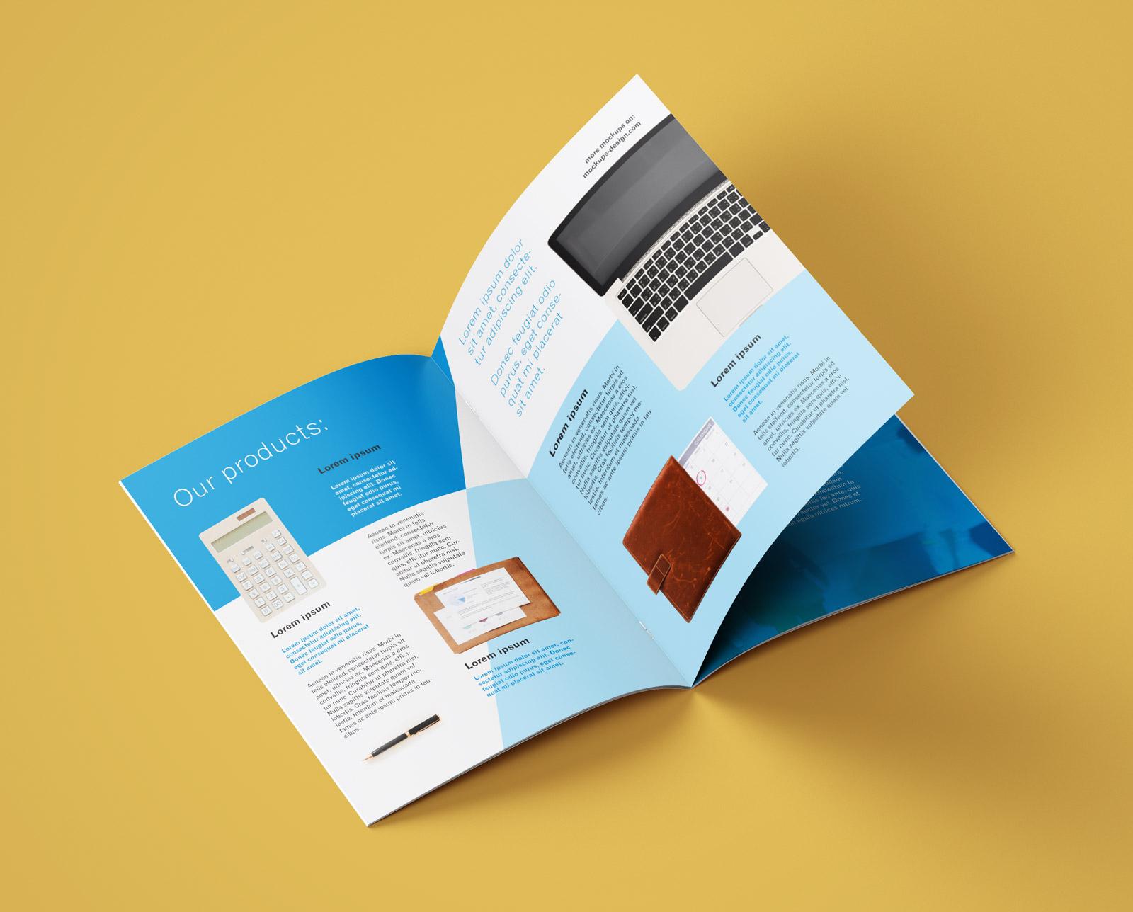 Free A4 Brochure Company Profile Mockup PSD (7)