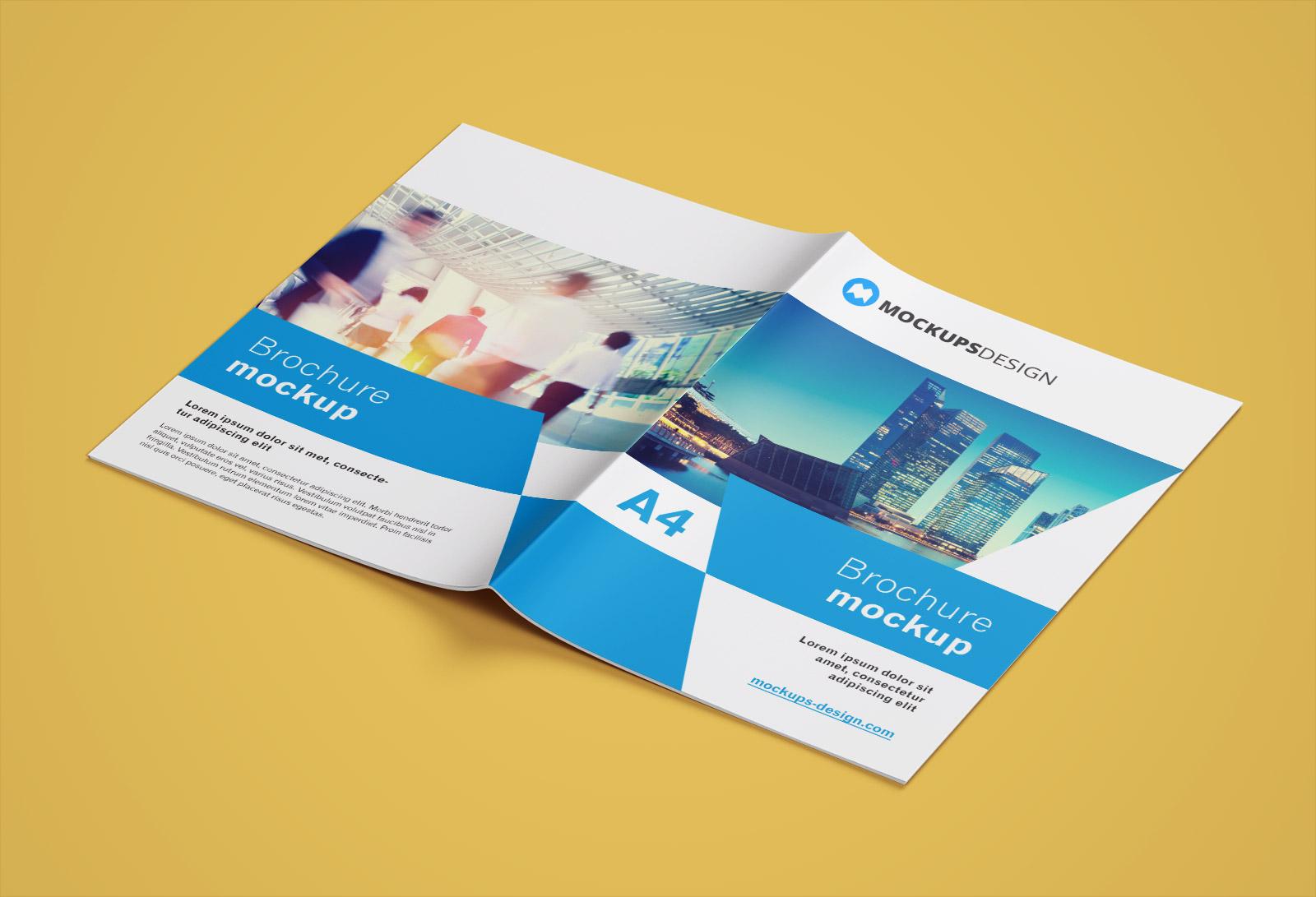Free A4 Brochure Company Profile Mockup PSD (8)