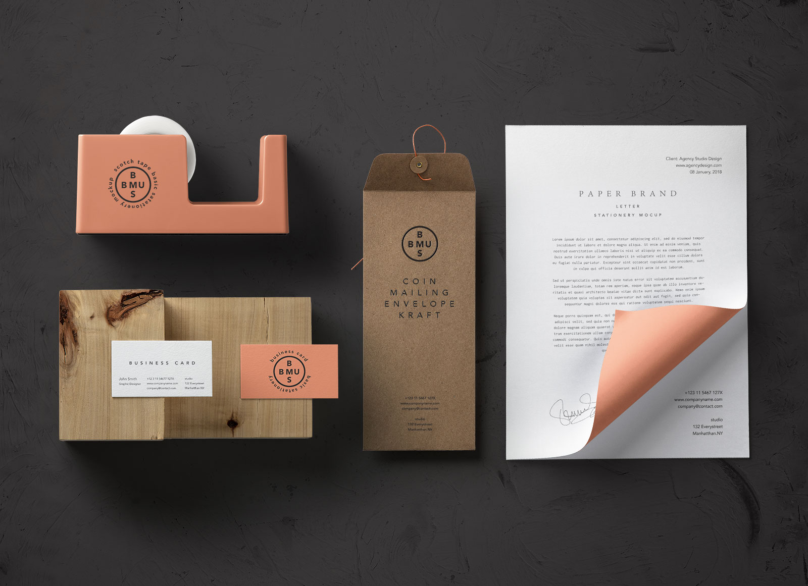 free basic stationery branding mockup psd good mockups