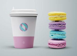 Free-Coffee-Cup-&-Cookies-Mockup-PSD