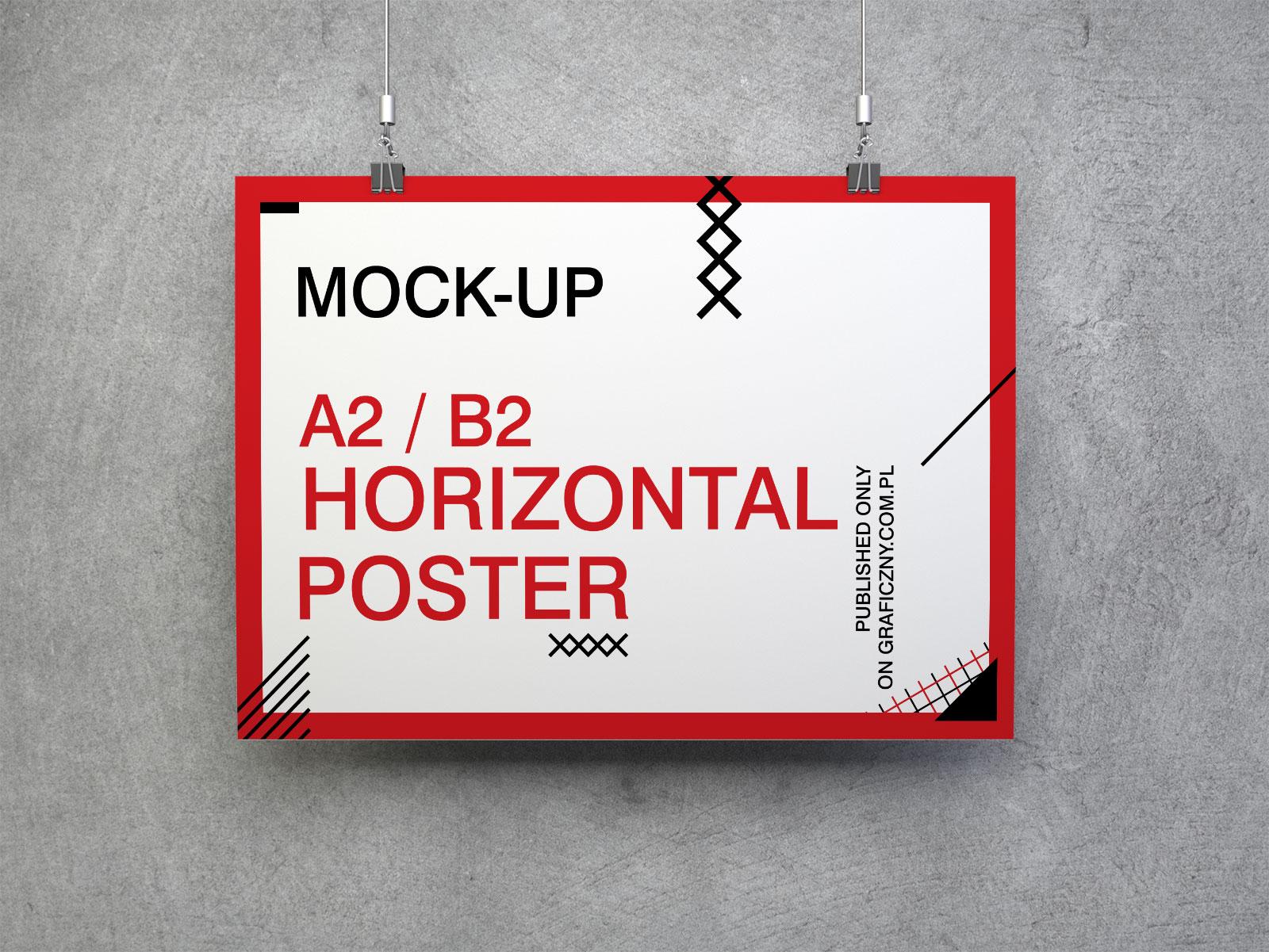 Free-Horizontal-Poster-Mockup-PSD