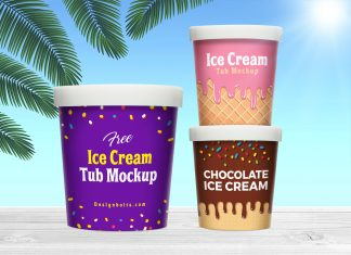 Free-Ice-Cream-Bucket-Sorbet-Tub-Mockup-PSD