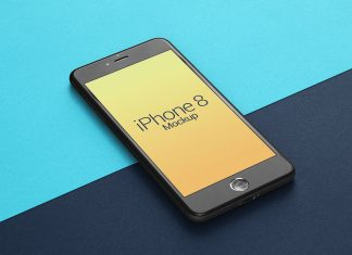Free-Perspective-Apple-iPhone-8-Mockup-PSD