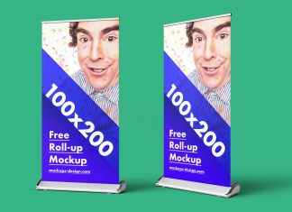Free-Retractable-Roll-up-Banner-Stand-Mock-up-PSD-4