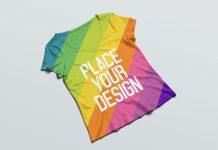 Free-Women's-V-Neck-T-shirt-Mockup-PSD-3