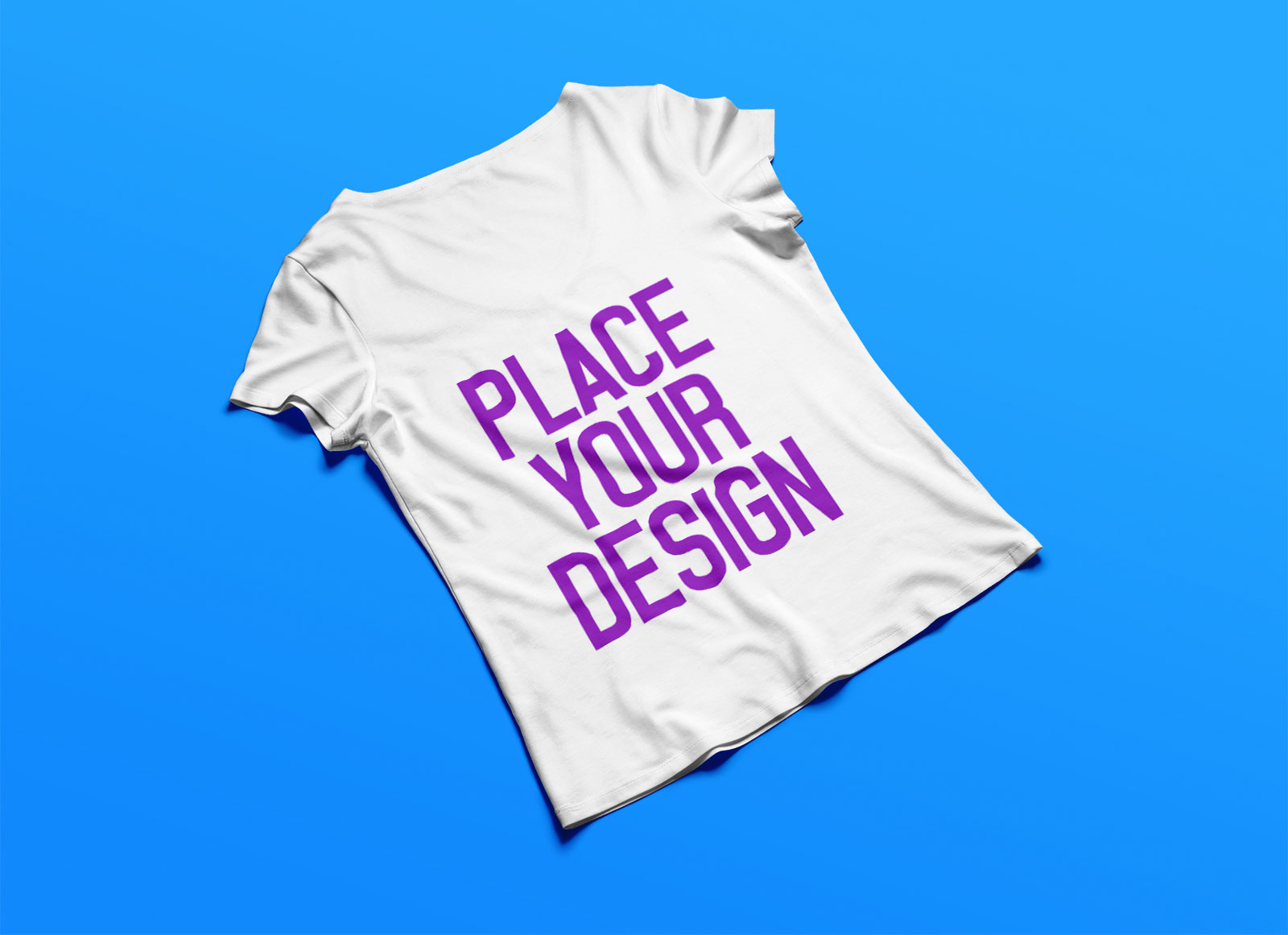 Free-Women's-V-Neck-T-shirt-Mockup-PSD-Backside