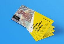 Free Bi-Fold Leaflet Brochure Mockup PSD Set (1)